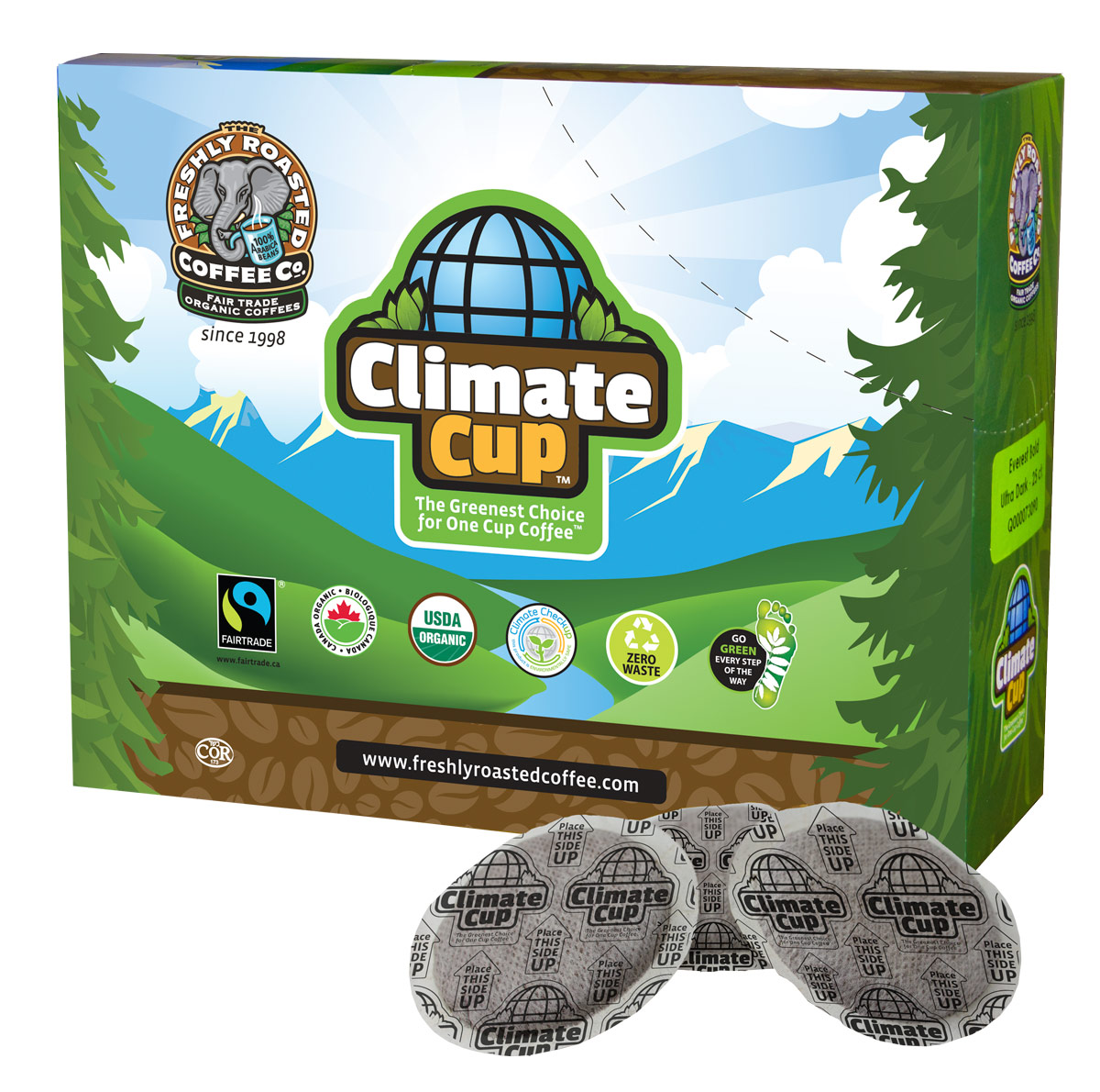 climate cup coffee package design by KAPOW Creative
