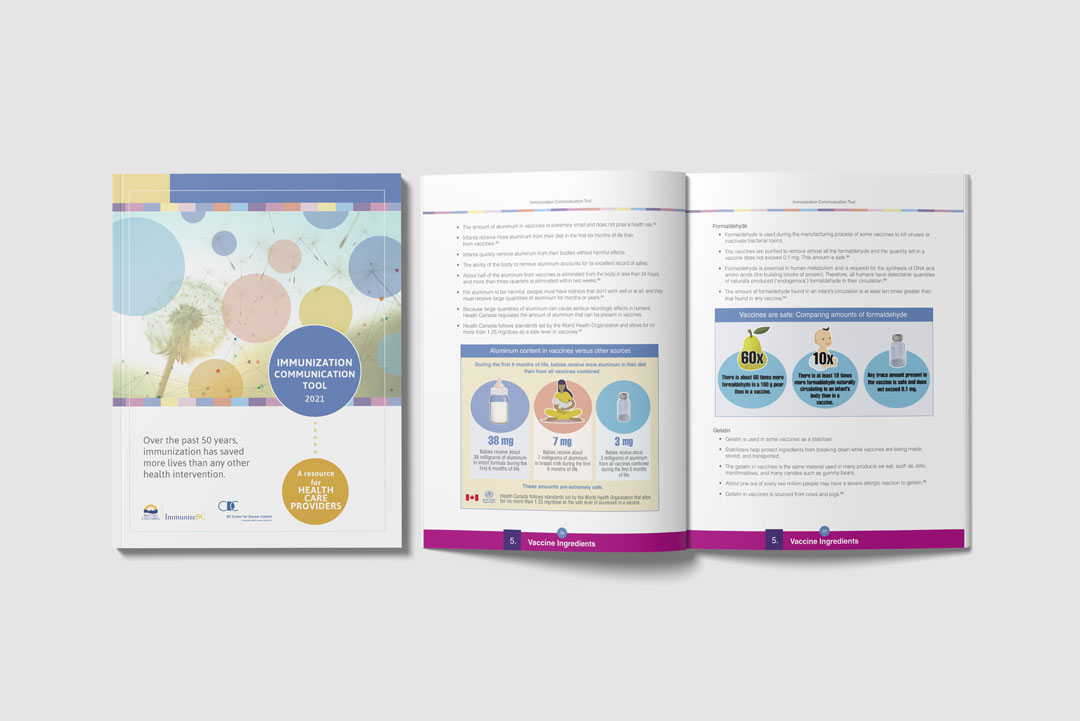 Report Design by KAPOW Creative for BC Centre for Disease Control