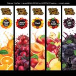 nature crafted juice label design by kapow creative