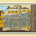 Map design by kapow creative for east vancouver breweries.