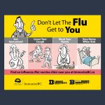 sign design by kapow creative for BC Centre for Disease Control Flu vaccine