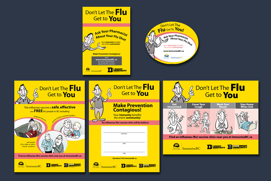 Sign Design by KAPOW Creative for BC Centre for Disease Control