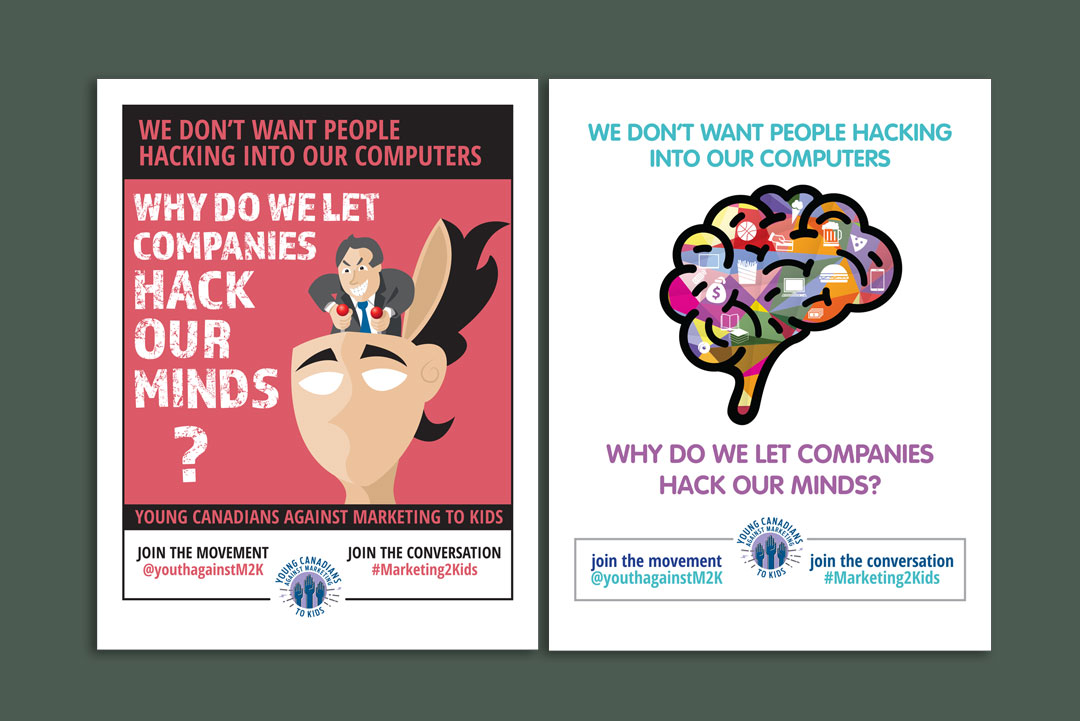 Poster Design by KAPOW Creative for Stop Marketing to Kids